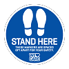 Stand Here Floor Decals - 10 Pack
