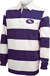 College Lane® Classic Rugby Long Sleeve Polo