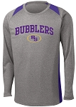 College Lane® Long Sleeve Heather Colorblock Contender™ Te