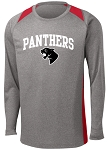 College Lane® Long Sleeve Heather Colorblock Contender™ Tee
