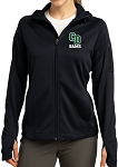 College Lane® Ladies Tech Fleece Full-Zip Hooded Jacket