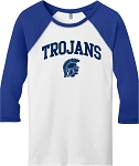 College Lane® Juniors 50/50 3/4-Sleeve Raglan Tee