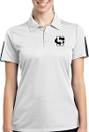 College Lane® Ladies' Active Textured Colorblock Polo