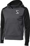 College Lane® Tech Fleece Colorblock 1/4-Zip Hooded Sweatshirt