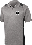 College Lane® Heather Colorblock Contender™ Polo
