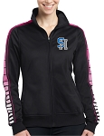 College Lane® Ladies Dot Sublimation Tricot Track Jacket