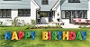 Happy Birthday Yard Sign Letters