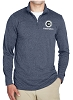UltraClub Men's Cool & Dry Heathered Performance Quarter-Zip - GC