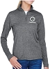 UltraClub Ladies' Cool & Dry Heathered Performance Quarter-Zip - GC