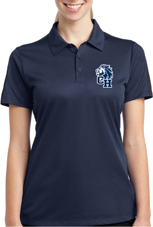 College Lane® Ladies Active Textured Colorblock Polo