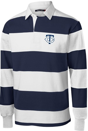 College Lane® Long Sleeve Rugby Polo