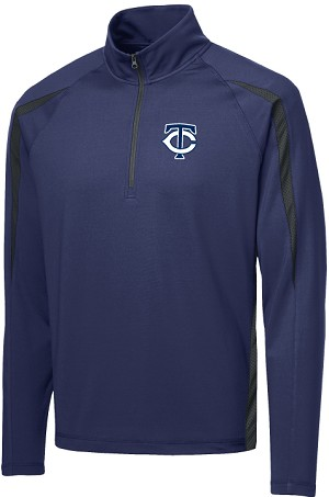 College Lane® Stretch 1/2-Zip Colorblock Pullover