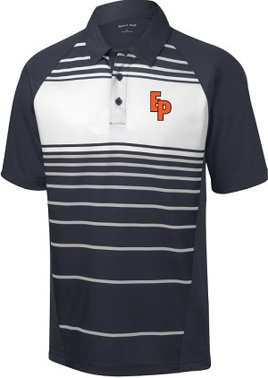 College Lane® Sublimated Stripe Polo