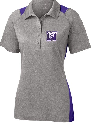 College Lane® Ladies Heather Colorblock Contender™ Polo