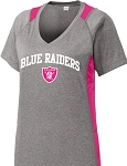 College Lane® Ladies Heather Colorblock Contender™ Tee