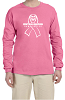 Fruit of the Loom Adult 5 oz. HD Cotton Long-Sleeve T-Shirt - PINK RIBBON