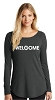 District Women's Perfect Tri Long Sleeve Tunic Tee - V
